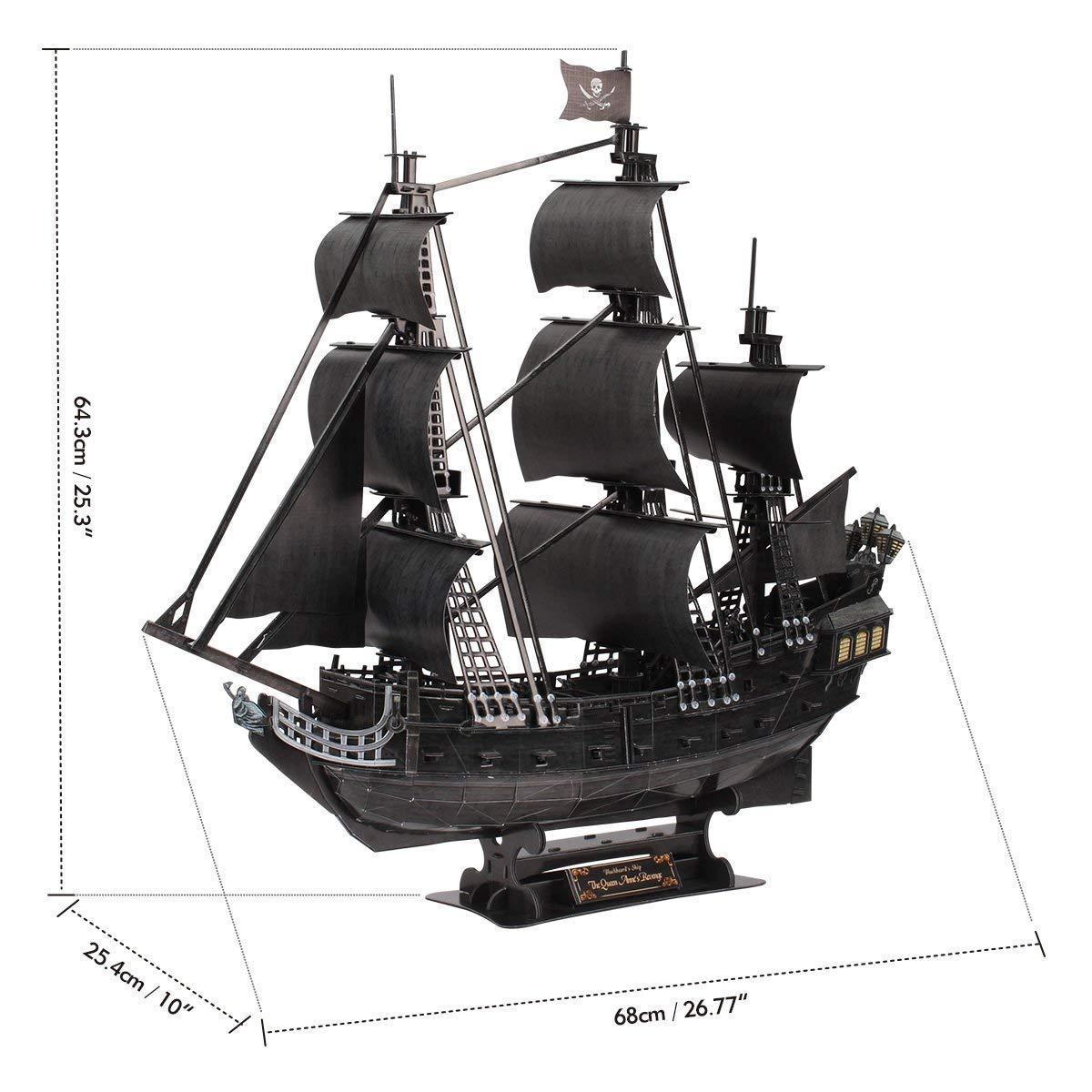 Корабль 3Д-пазл Месть королевы Анны - фото 1