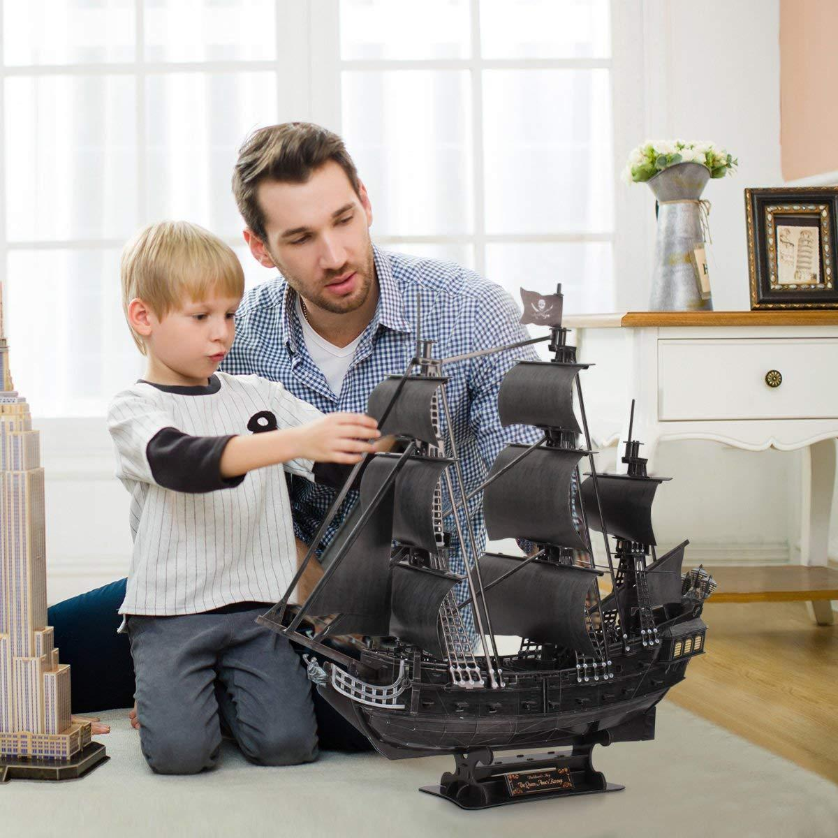 Корабль 3Д-пазл Месть королевы Анны - фото 3