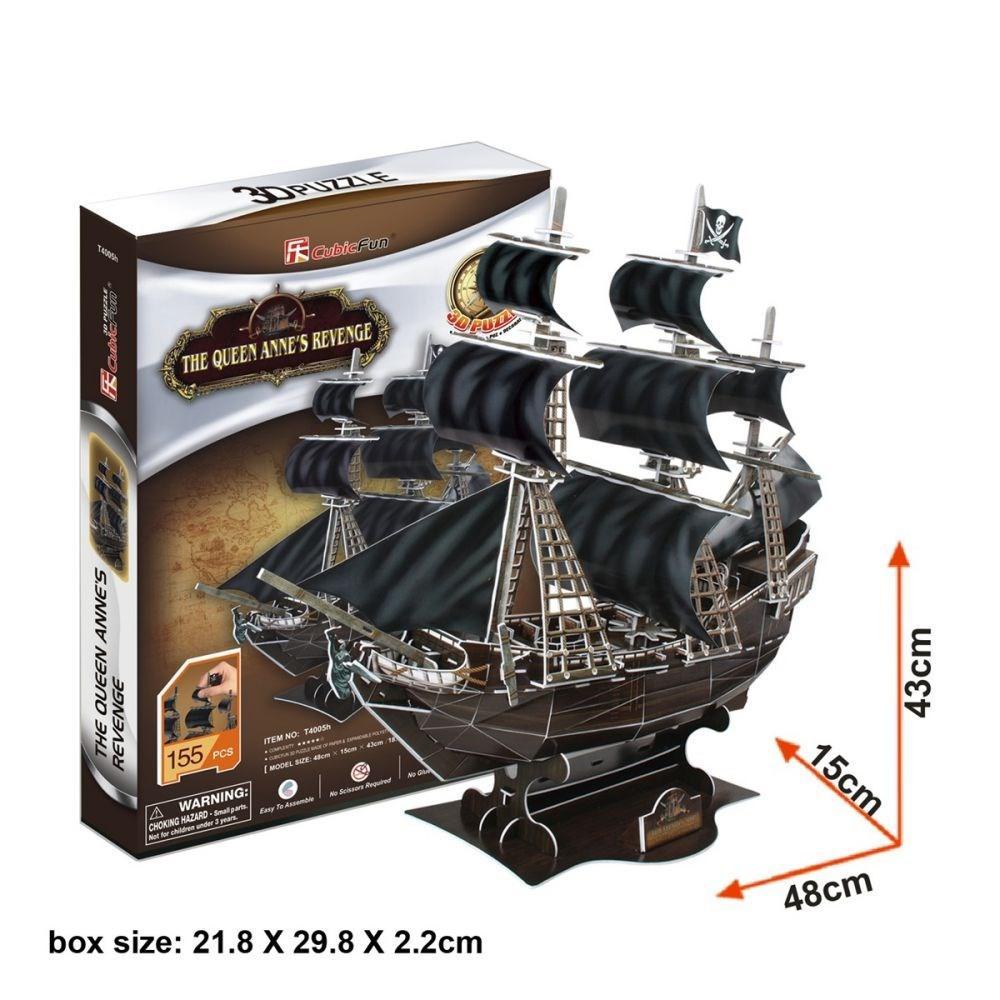 Корабль 3Д-пазл Месть королевы Анны - фото 4
