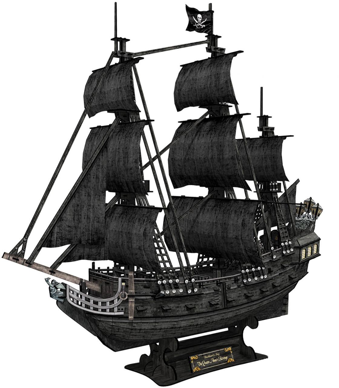 Корабль 3Д-пазл Месть королевы Анны - фото 5