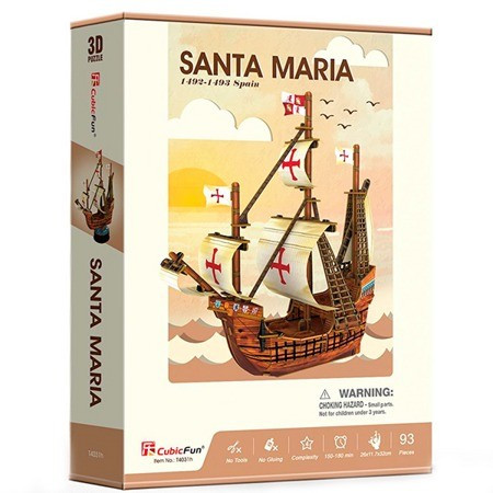 Корабль 3Д-пазл Санта Мария ср. - фото 1