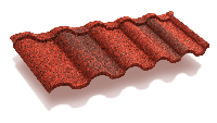 Композитная черепица ТЕХНОНИКОЛЬ LUXARD  ROMAN Гранат, фото 1