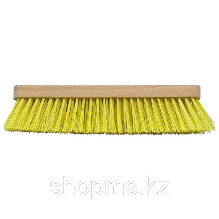 Щетка для пола деревянная овальная (тротуарная), 6-ти рядная, 275 мм***