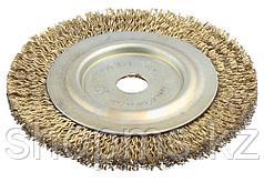 Щетка дисковая для шлиф маш, стальная, 16мм / 125мм