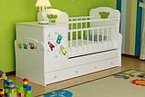 Детская кровать-трансформер Infanzia, с рисунком,белый, фото 2