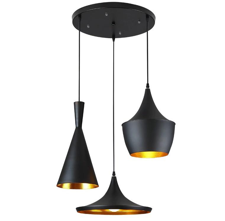 Светильник в силе LOFT на 3 лампы черный