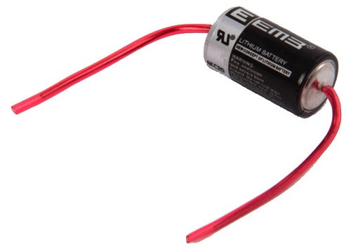 Батарейка 1/2AA 14250 3.6V (ER14250-AX) аксиальные выводы, EEMB