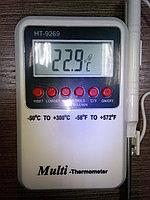 Электронный термометр c щупом на проводе HT-9269, фото 1