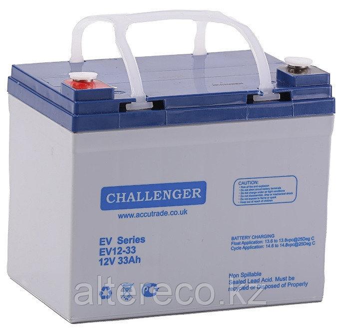 Тяговый аккумулятор Challenger EV12-33 (12В, 33Ач)
