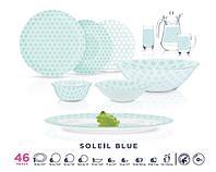 Столовый сервиз Luminarc Soleil Blue 46 предметов на 6 персон