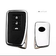 Железный чехол на ключ на Lexus ES/GS/LX/IS Хром