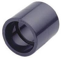 Муфта равнопроходная ПВХ 63 мм, 60.0, Поливинилхлорид, 0.0, 16.0