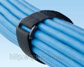 Кабельные стяжки (тайсы) липучки Hook & Loop, color 20 mm x180 mm, фото 2