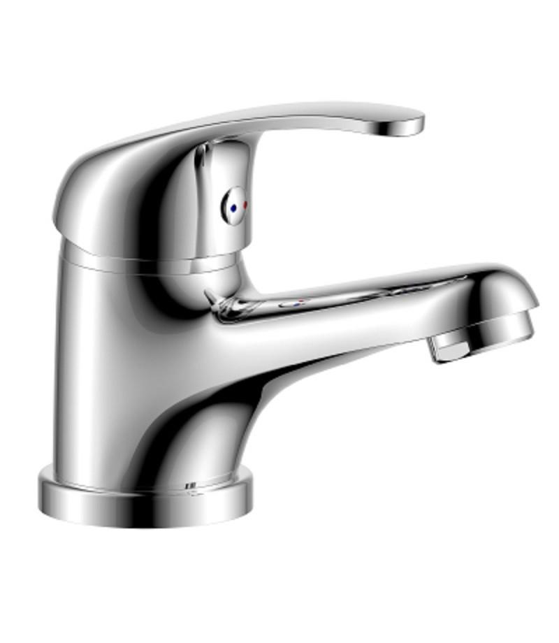 Смеситель одноручный (35мм) для ванной c коротким излив дивертор с кер.плас. хром/бел. Rossinka W35-31