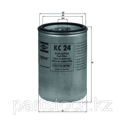 Фильтр топливный   на / для RENAULT/ VOLVO, РЕНО/ ВОЛЬВО, KNECHT KC24