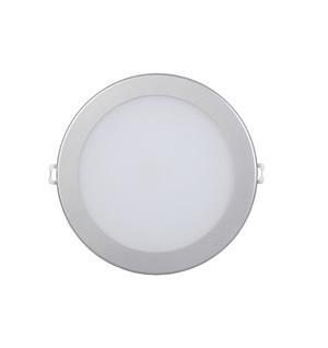 Спот панель круглый встраиваемый LED . 12w d186 4000K серебро.