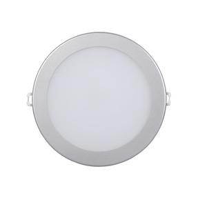 Спот панель круглый встраиваемый LED. 18w d242 4000K серебро.