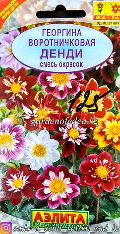 """Семена пакетированные Аэлита. Георгина воротничковая """"Денди"""", фото 2"""