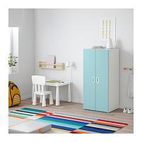 СТУВА / ФРИТИДС Шкаф платяной, белый, голубой ИКЕА, IKEA