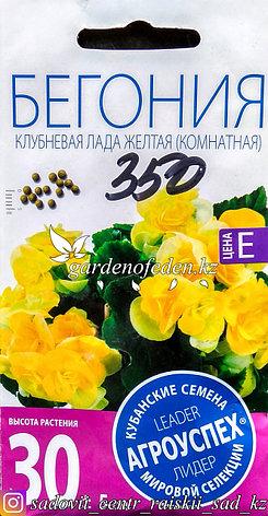 """Семена пакетированные Агроуспех. Бегония """"Клубневая Лада желтая"""", фото 2"""