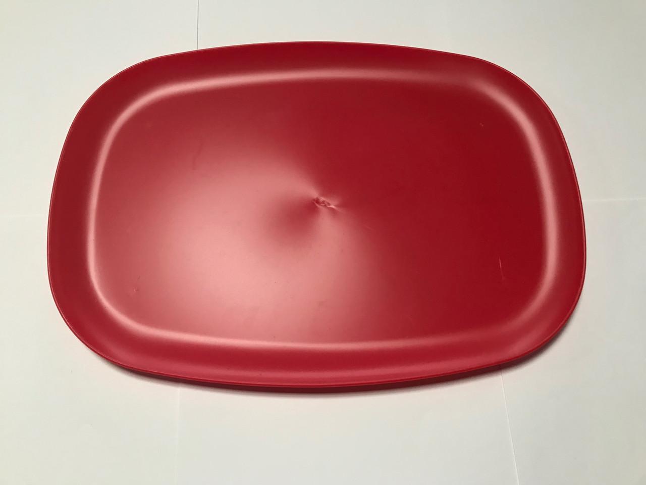 Поднос пластиковый 24×35 см красный