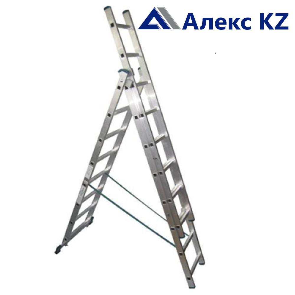 Лестница алюминиевая AL 308, 3 -х секционная, универсальная