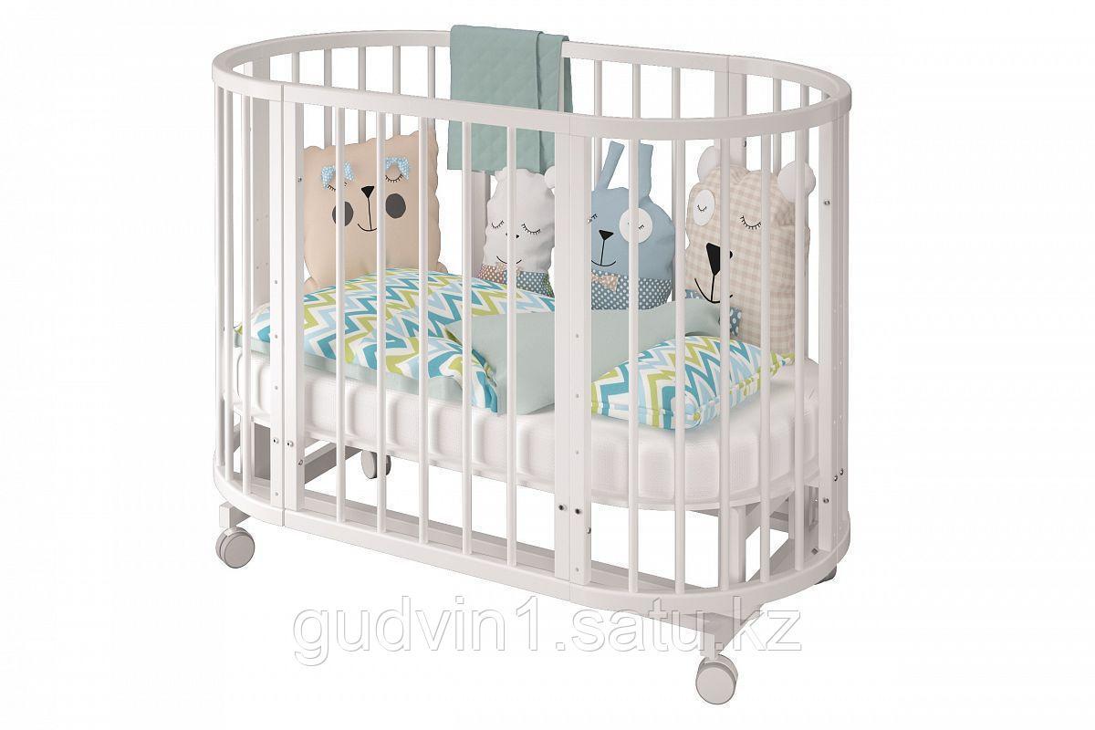 Детская кроватка - трансформер Можгинский лесокомбинат Сильвия(белый,сл.кость)