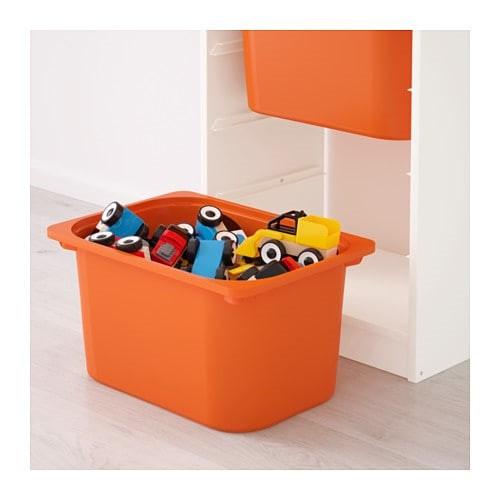 стеллаж для игрушек ТРУФАСТ белый/оранжевый ИКЕА, IKEA - фото 3