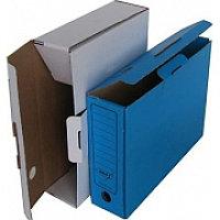Архивный короб, 340х255х80, картон, синий KRIS