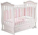 """Кровать детская """"Вэлла 2"""" (Базовая + маятник ) Можгинский лесокомбинат(белая,слон.кость), фото 7"""