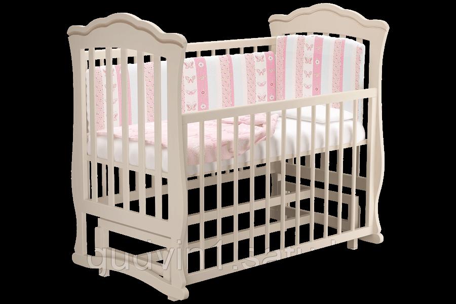 """Кровать детская """"Вэлла 2"""" (Базовая + маятник ) Можгинский лесокомбинат(белая,слон.кость)"""