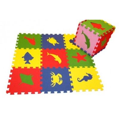 Универсальный коврик Морские Животные 33*33(см), 9 дет. 1(м2)