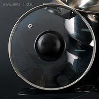 Крышка для сковороды и кастрюли стеклянная, d=20 см, с пластиковой ручкой