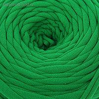 Пряжа трикотажная широкая 50м/160гр, ширина нити 7-9 мм (зелёный)
