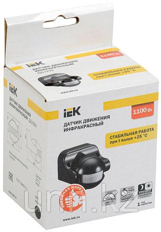 Датчик движения ДД-009 1100Вт 180град 12м IP44 черный IEK, фото 2