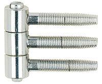 Петля 3-штыревая, стальная, белая оцинкованная