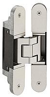Скрытая петля, алюминий, цвет серебряный, вес дверей - 80 кг