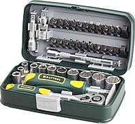 Набор инструментов торцевые головки и биты KRAFTOOL 27970-H38, INDUSTRIE, слесарно-монтажный инструмент