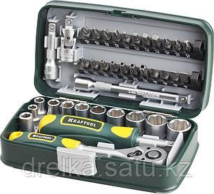 Набор инструментов торцевые головки и биты KRAFTOOL 27970-H38, INDUSTRIE, слесарно-монтажный инструмент, фото 2
