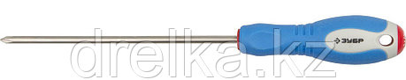 Отвертка ЗУБР, Cr-V сталь, трехкомпонентная рукоятка, цветовая индикация типа шлица, PH №1, 150мм, фото 2