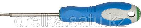 Отвертка ЗУБР, Cr-V сталь, трехкомпонентная рукоятка, цветовая индикация типа шлица, TORX №15, 75мм, фото 2