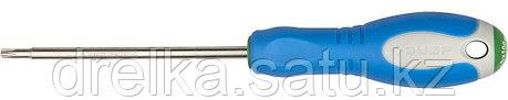 Отвертка ЗУБР, Cr-V сталь, трехкомпонентная рукоятка, цветовая индикация типа шлица, TORX №20, 100мм, фото 2