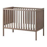 Кроватка детская СУНДВИК  серо-коричневый ИКЕА, IKEA