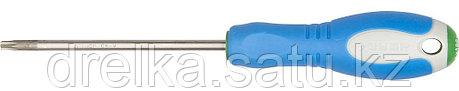 Отвертка ЗУБР, Cr-V сталь, трехкомпонентная рукоятка, цветовая индикация типа шлица, TORX №25, 100мм, фото 2