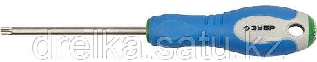 Отвертка ЗУБР, Cr-V сталь, трехкомпонентная рукоятка, цветовая индикация типа шлица, TORX №30, 100мм, фото 2