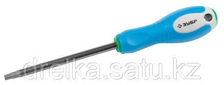 Отвертка ЗУБР, Cr-V сталь, трехкомпонентная рукоятка, цветовая индикация типа шлица, TORX №40, 125мм, фото 2
