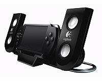 Акустические колонки Logitech Sony PSP Slim 2000/3000 Playgear Amp, черные