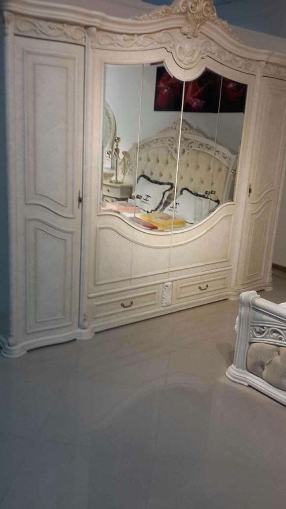ШАХ спальный гарнитур, крем матовый
