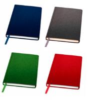 Ежедневник А5, гибкая обложка, Denim, цвет синий,зеленый,красный,серый, фото 1