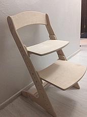 Детский растущий (регулируемый) стул. Ортопедический стул. (лакированный), фото 3